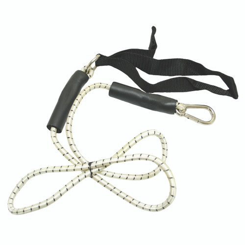 CanDo¨ exercise bungee cord with attachments, 4', Black - x-heavy