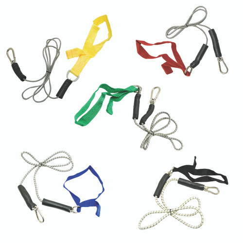 CanDo¨ exercise bungee cord with attachments, 4', set of 5 (yellow through black)
