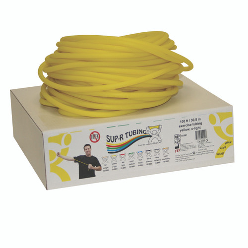 Sup-R Tubing¨ - Latex Free Exercise Tubing - 100' dispenser roll - Yellow - x-light