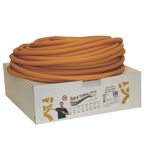 Sup-R Tubing¨ - Latex Free Exercise Tubing - 100' dispenser roll - Gold - xxx-heavy