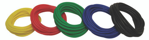Sup-R Tubing¨ - Latex Free Exercise Tubing - 25' rolls, 5-piece set (1 each: yellow, red, green, blue, black)