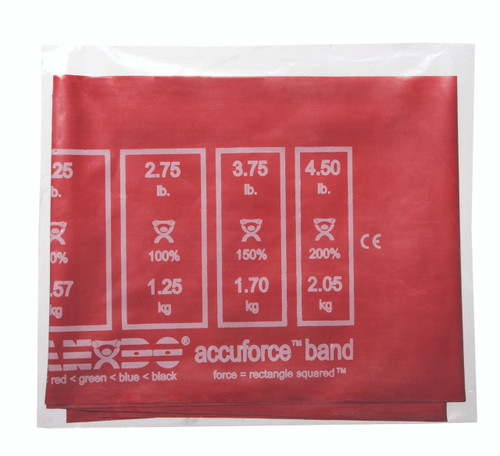CanDo¨ AccuForceª Exercise Band - 4' exerciser - Red - light