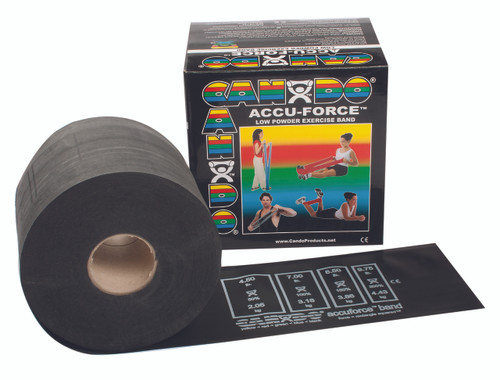CanDo¨ AccuForceª Exercise Band - 50 yard roll - Black - x-heavy