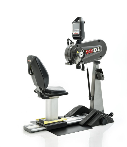 "SciFit PRO1 Upper Body Exerciser - Adjustable Tilt Head & Cranks - Standard Seat - Wheelchair Platform - 6"" Taller Mast"