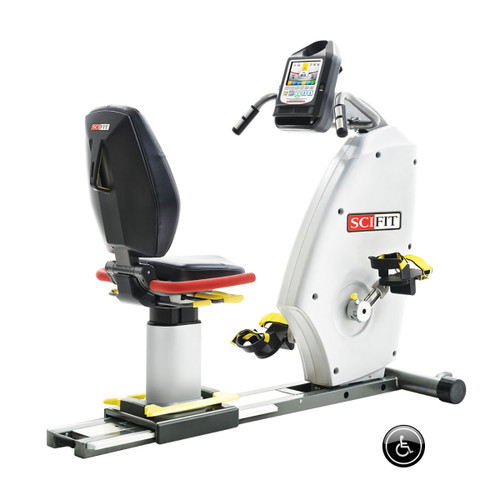 SciFit IF ISO7000R Recumbent Bike with Low Support Boots - Premium Seat
