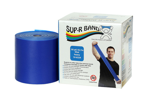 Sup-R Band¨ Latex Free Exercise Band - 50 yard roll - Blue - heavy