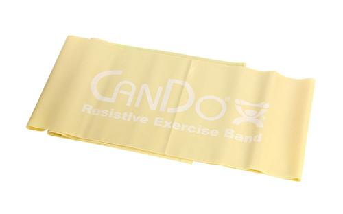 CanDo¨ Low Powder Exercise Band - 5' length - Tan - xx-light