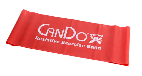 CanDo¨ Low Powder Exercise Band - 5' length - Red - light