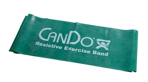 CanDo¨ Low Powder Exercise Band - 5' length - Green - medium