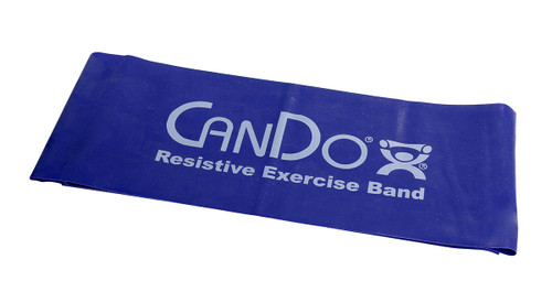 CanDo¨ Low Powder Exercise Band - 5' length - Blue - heavy