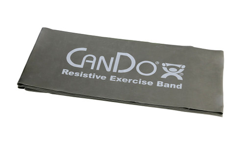 CanDo¨ Low Powder Exercise Band - 5' length - Silver - xx-heavy