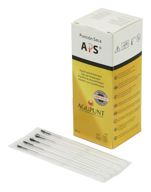 APS Dry Needling Needle, 0.30  x 75mm, Black Tip, 100/Box