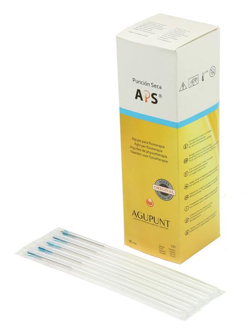 APS Dry Needling Needle, 0.30 x 100mm, Turquoise Tip, 100/ Box