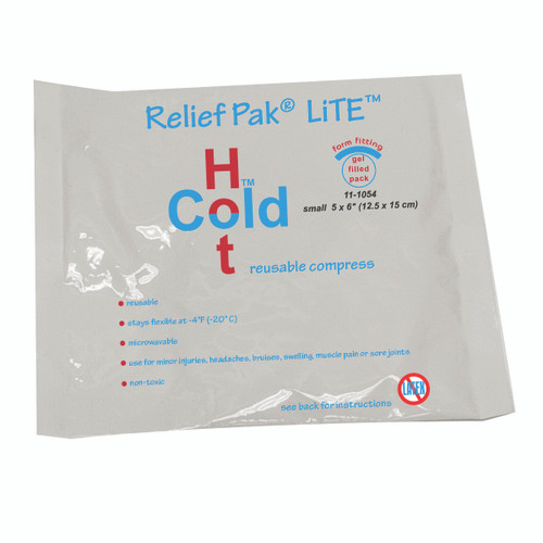"Relief Pak Val-u Pak LiTE Cold n' Hot Pack - 5"" x 6"" - Case of 12"