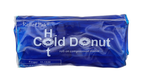 "Relief Pak Cold n' Hot Donut Compression Sleeve - finger (for up to 1"" circumference) - Case of 20"