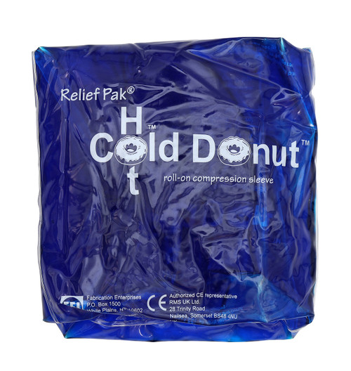 "Relief Pak Cold n' Hot Donut Compression Sleeve - small (for 4"" - 10"" circumference)"