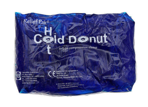 "Relief Pak Cold n' Hot Donut Compression Sleeve - small (for 15-21"" circumference) - Case of 10"