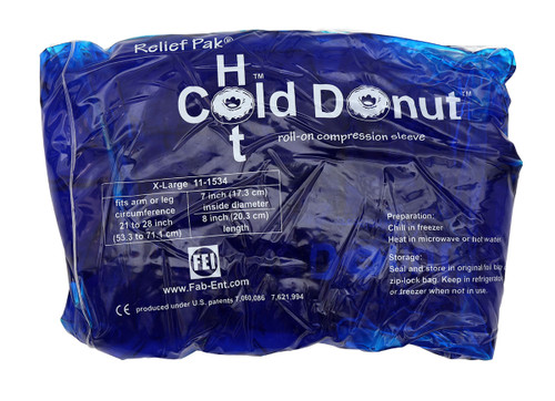 """Relief Pak Cold n' Hot Donut Compression Sleeve - x-large (for 21"""" - 28"""" circumference)"""