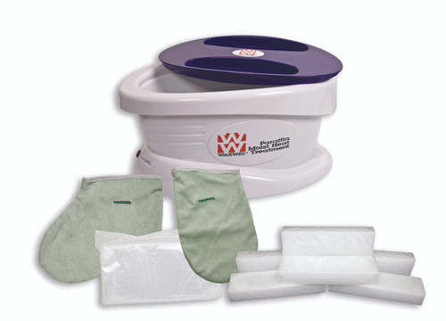 WaxWel¨ Paraffin Bath - Standard Unit Includes: 100 Liners, 1 Mitt, 1 Bootie and 6 lb Unscented Paraffin