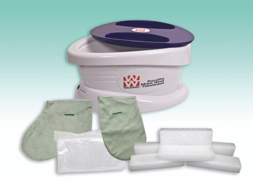 WaxWel¨ Paraffin Bath - Standard Unit Includes: 100 Liners, 1 Mitt, 1 Bootie and 6 lb Wintergreen Paraffin