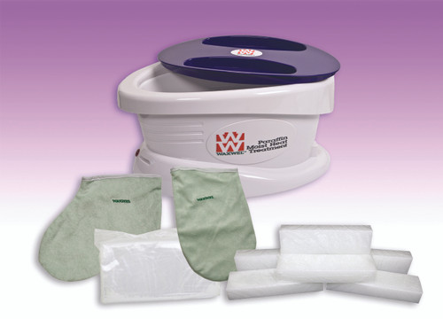 WaxWel¨ Paraffin Bath - Standard Unit Includes: 100 Liners, 1 Mitt, 1 Bootie and 6 lb Lavender Paraffin