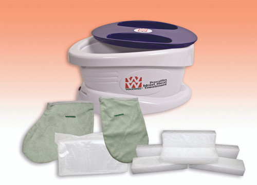 WaxWel¨ Paraffin Bath - Standard Unit Includes: 100 Liners, 1 Mitt, 1 Bootie and 6 lb Peach Paraffin