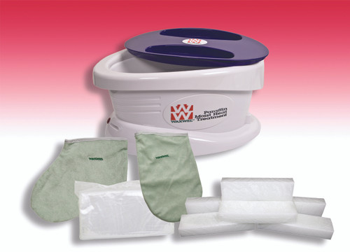 WaxWel¨ Paraffin Bath - Standard Unit Includes: 100 Liners, 1 Mitt, 1 Bootie and 6 lb Rose Paraffin