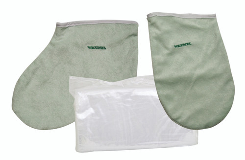 WaxWel¨ Paraffin Bath - Accessory Package - 50 Liners, 1 Mitt and 1 Bootie ONLY