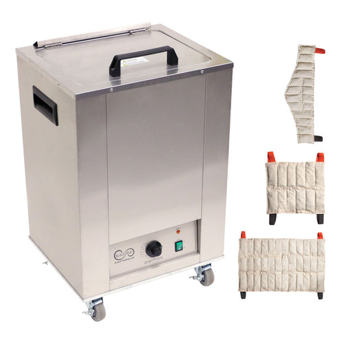 Relief Pak¨ Heating Unit, 8-Pack Capacity, Mobile with (2) Standard, (2) Neck, (2) Oversize Packs, 110V