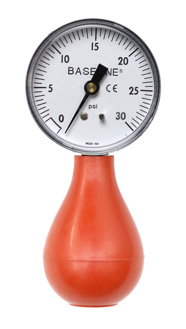 Baseline¨ Dynamometer - Pneumatic Squeeze Bulb - 30 PSI Capacity, no reset