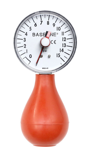 Baseline¨ Dynamometer - Pneumatic Squeeze Bulb - 15 PSI Capacity, with reset