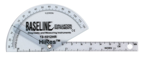 Baseline¨ Plastic Goniometer - Finger - HiResª Flexion to Hyper-Extension, 25-pack