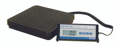 Detecto¨ Floor Scale - DR400C Digital 400 lb / 175 kg - with Remote Indicator