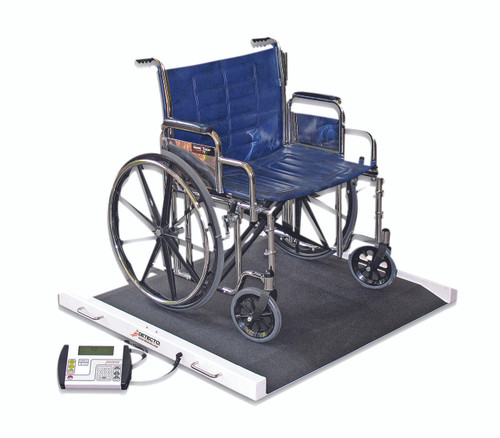 Detecto¨ Bariatric / Wheelchair Scale - 1100 lb x .5 lb - 49 x 45 x 8 inch Footprint