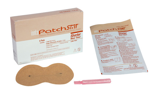 IontoPatch¨ STAT, patch/Vial, 80mA-min, pack of 6
