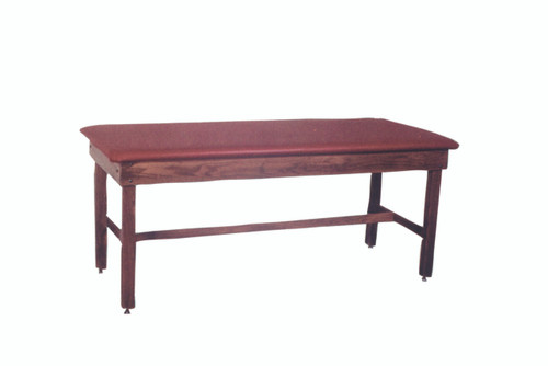 """wooden treatment table - H-brace, upholstered, 78"""" L x 24"""" W x 30"""" H"""
