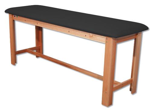 Classic H-Brace Exam Table Black
