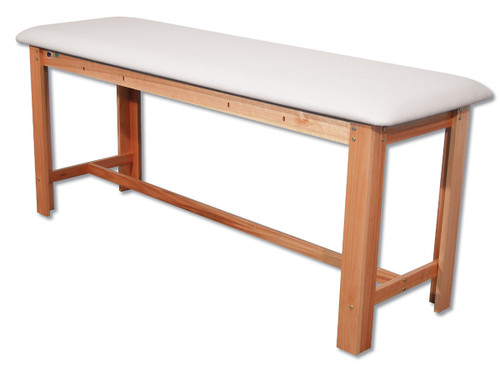 Classic H-Brace Exam Table White