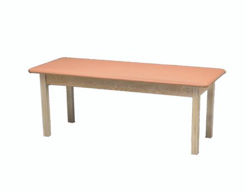 """wooden treatment table - standard, upholstered, 78"""" L x 24"""" W x 30"""" H"""