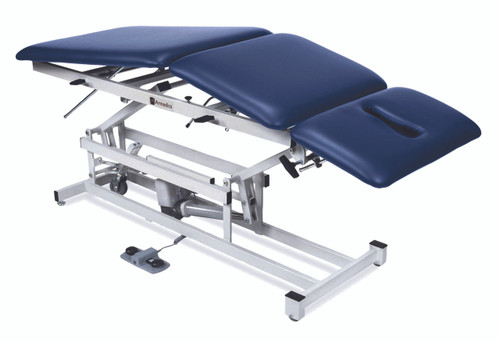 "treatment table - electric hi-low, 76"" L x 27"" W x 18"" - 37"" H, 3-section"