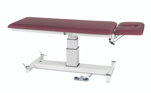 "treatment table - electric pedestal hi-low, 76"" L x 27"" W x 24"" - 36"" H, 2-section"