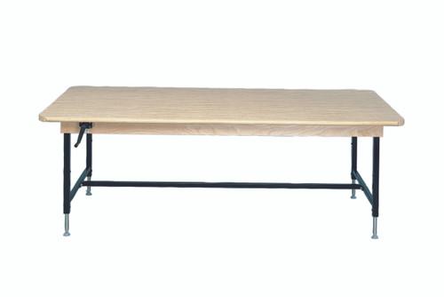 "Work Table, rectangular, manual Hi-Low, 96"" L x 48"" W x 28"" - 35.5"" H"