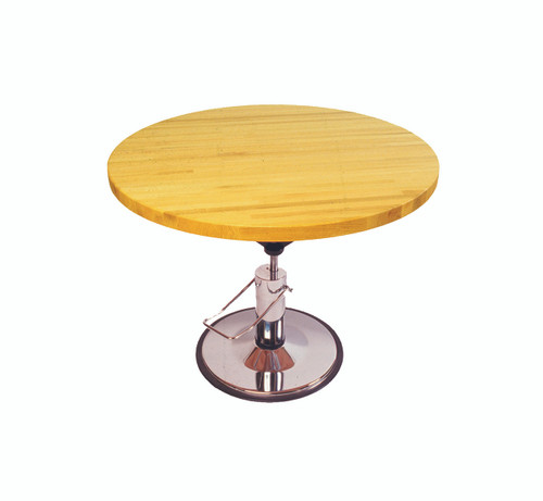 """Work Table, circular, hydraulic Hi-Low, 28"""" - 36"""" H, 48"""" diameter"""