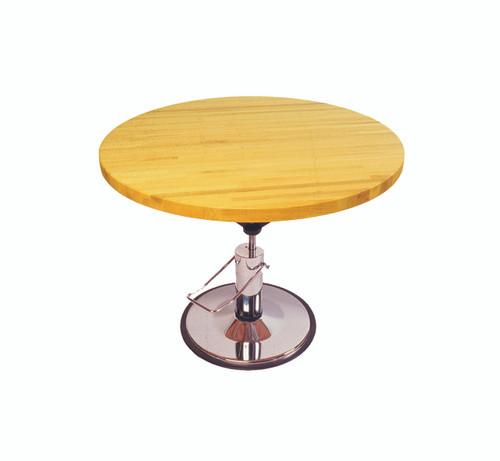 """Work Table, circular, hydraulic Hi-Low, 28"""" - 36"""" H, 60"""" diameter"""