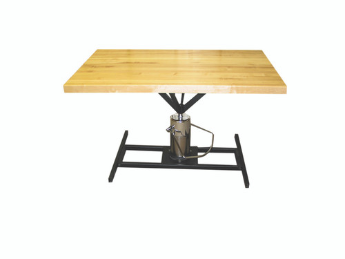 """Work Table, rectangular, hydraulic Hi-Low, 60"""" L x 30"""" W x 28"""" - 36"""" H"""
