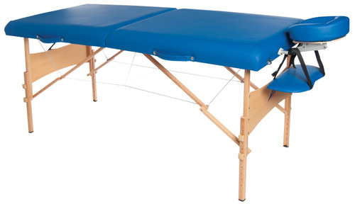"Deluxe portable massage table, 76"" L x 30"" W x 23"" - 33"" H"