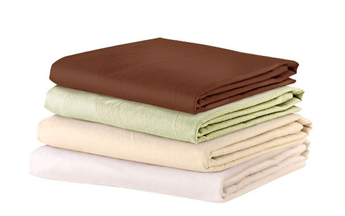 "Fitted Sheet - 36""W x 77""L x 7""D - Cotton Flannel - Tan"