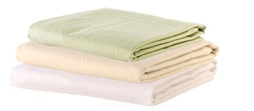 """Flat Sheet - 63""""W x 100""""L - Cotton Flannel - White"""
