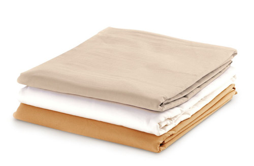 """Flat Sheet - 63""""W x 100""""L - Cotton Polyester - Tan"""