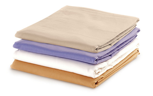 Massage Sheet Set - Includes: Fitted, Flat and Cradle Sheets - Cotton Poly - Dakota Blue